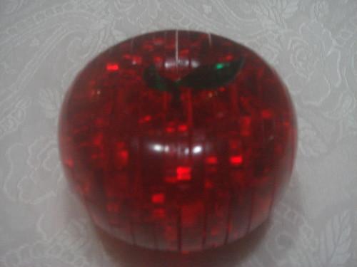 3D水晶立體積木拼圖_蘋果2
