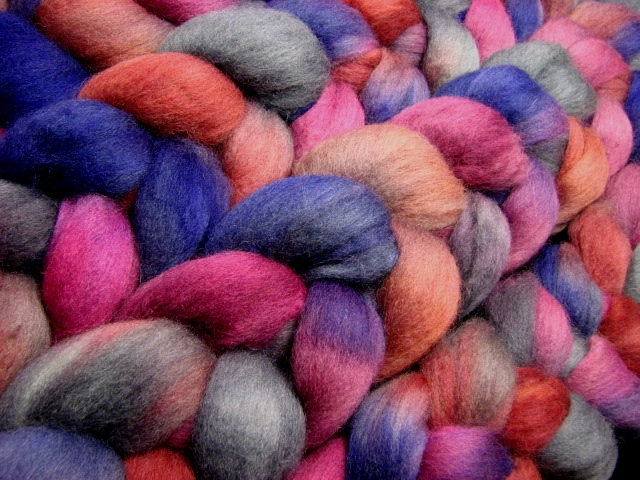 Triple Berry Frost - Corriedale Combed Top