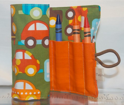 Boys crayon roll by Samantha Halliwell