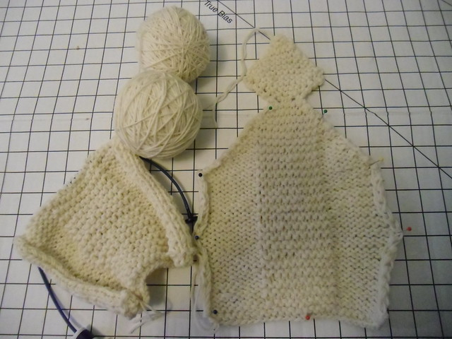 bunny slippers - in progress