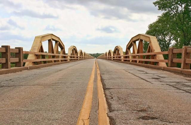 Looking across the Pony Bridge, Route 66, Oklahoma