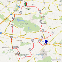 10. Bike Route Map. Etra Lake Park, Hightstown, NJ