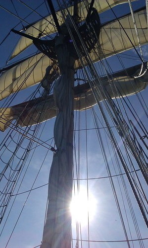 Sun in the rigging