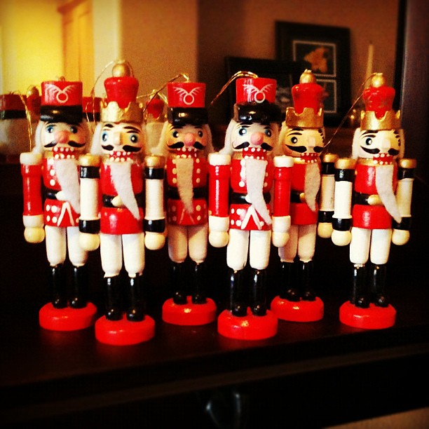 Nutcracker soldiers I thrifted a few years ago. I love these guys.