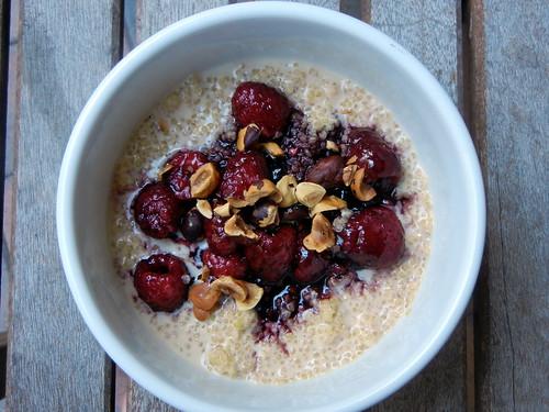Quinoa Porridge with Raspberries