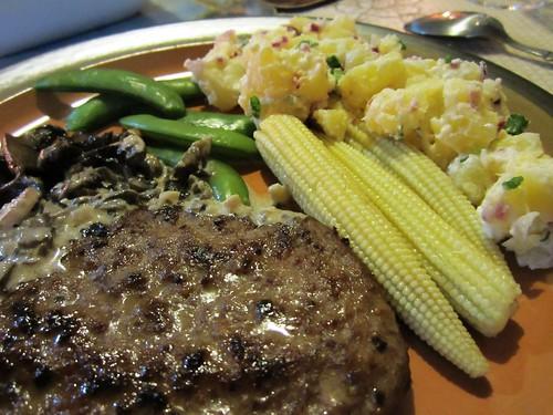 Salisbury beef & sides