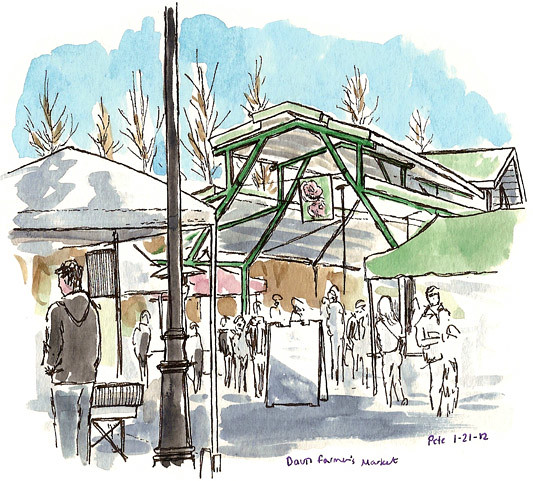 sketchcrawl 34 davis farmers market
