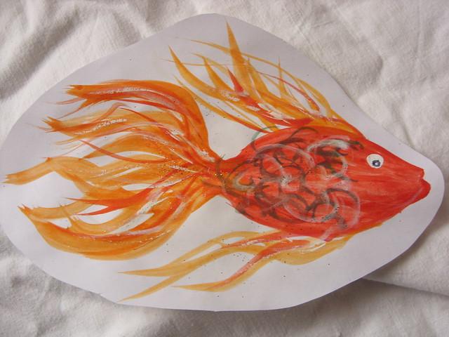 Goldfisch oder Guppy