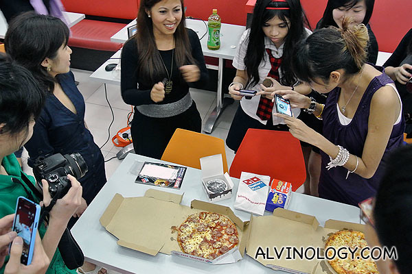 The pizzas were the centre of attention at the event
