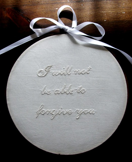 I Will Not Be Able To Forgive You