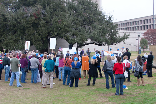 Crowd at the True the Vote rally