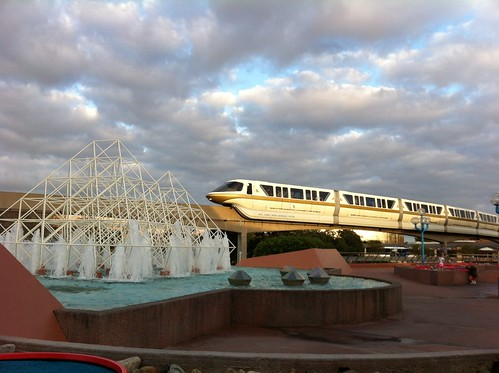 Monorail in Future World