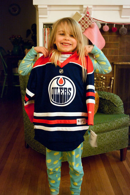 sadie with her own oilers
