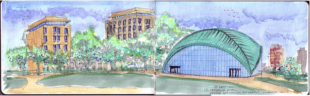 Kresge, MIT, thinking insomniac, vernelle noel, kresge, mit, cambridge, architecture,mit architecture, architectural sketches, architectural sketching, architect sketches, architectural sketches of buildings, architectural sketching techniques,  architecture sketchbook, architectural perspective, architecture sketches of houses, sketching buildings,mit admissions, mit university, mit online, mit,