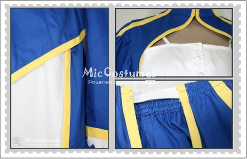 Fate Stay Night Blue Saber Cosplay Costume_1