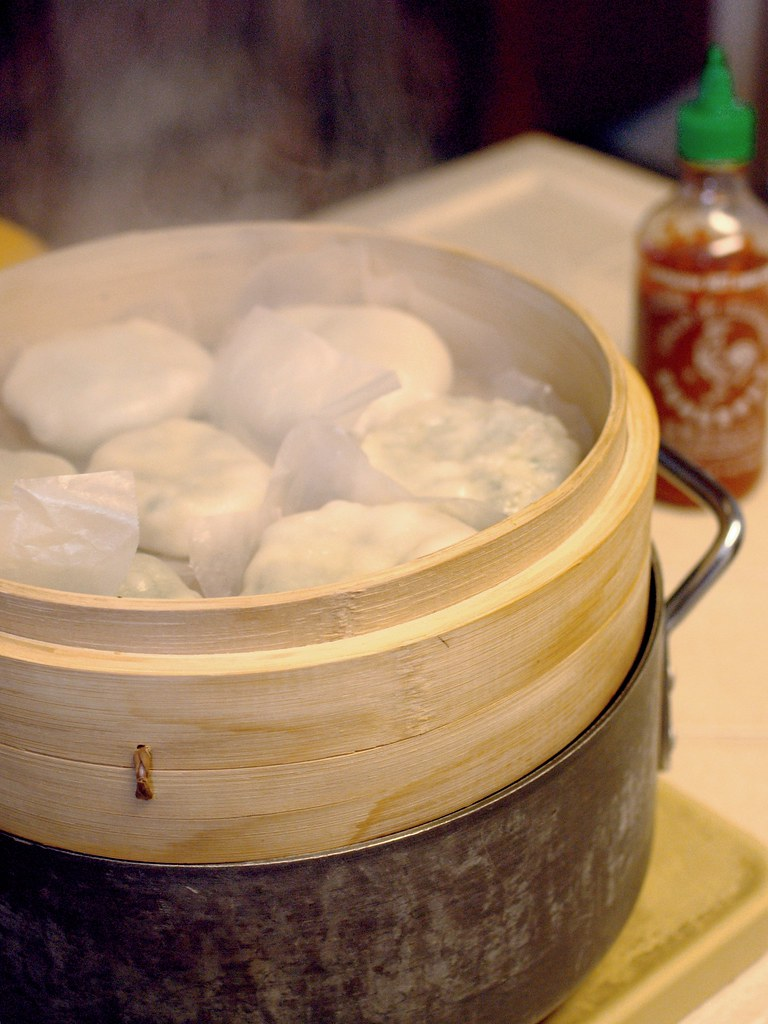 Gow choi gau, getting steamed