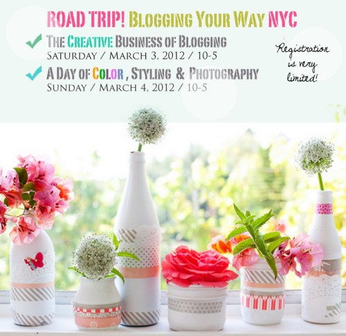 Blogging + Styling + Photography Workshop in NYC March 3 & 4