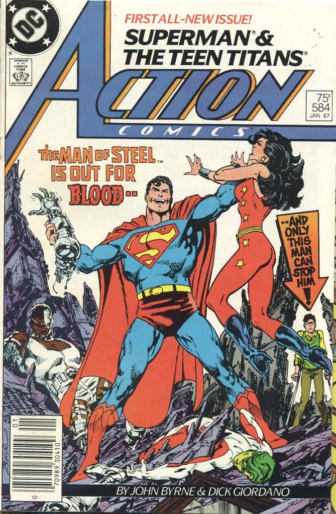 Superman vs Teen Titans