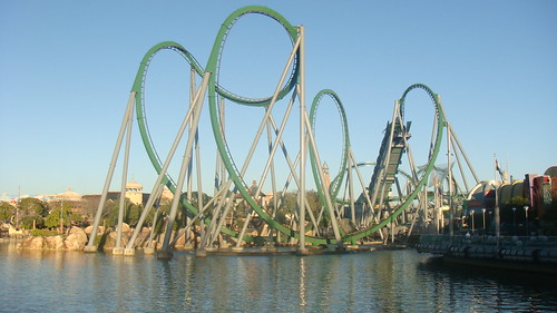 Montanha-russa do Hulck *-* - Island of Adventure (Orlando)