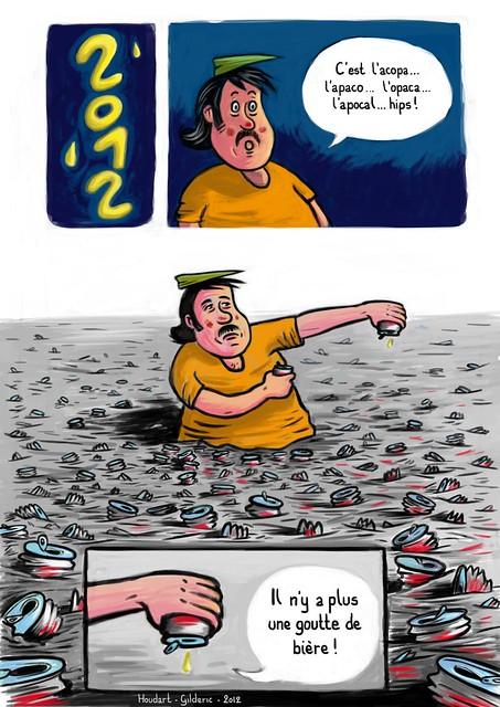 Jean-Michel : 2012, année apocalypt'hic (page de bd de Florian-Houdart et Gilderic)