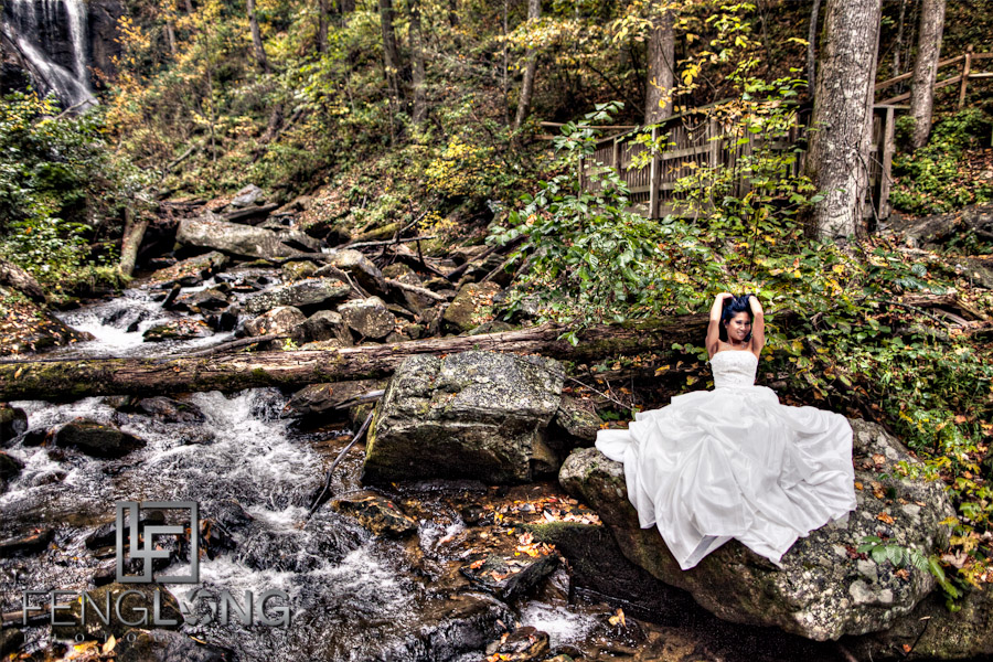 HDR Portrait | Khammy's Bridal Portrait Session | Anna Ruby Falls | Helen, GA Wedding Photographer