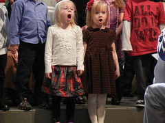 Maria & Mykaela - Church Christmas Program 2011