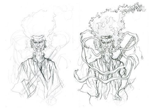 Afro Samurai tattoo roughs by kiboko HachiYon