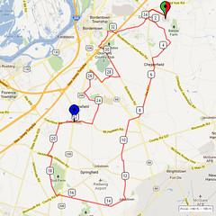 13. Bike Route Map. Hamilton Area YMCA, Crosswicks, NJ