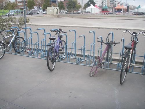 Aparcamiento para bicis estación tren Córdoba.