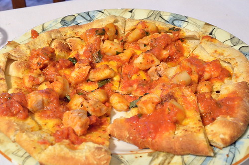 Scallop & Fish Pizza