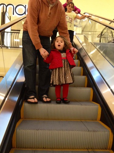 on the escalator
