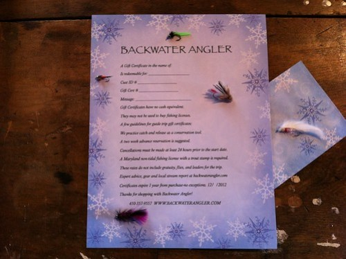 Backwater Angler Fly Fishing Gift Certificate