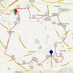 16. Bike Route Map. Hamilton Area YMCA, Crosswicks, NJ