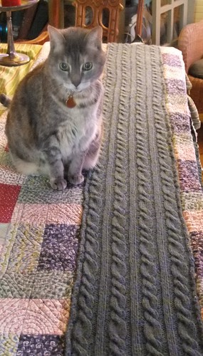 Sweetpea overseeing the blocking process