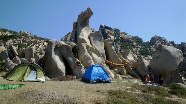 Capo Testa - La Valle della Luna - campeggio libero