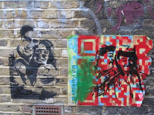 Street Art & Graffiti in Shoreditch - Dotmasters & Mr Dot Fahrenheit