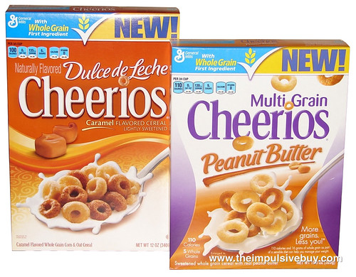 Dulce de Leche Cheerios and Multi Grain Cheerios Peanut Butter