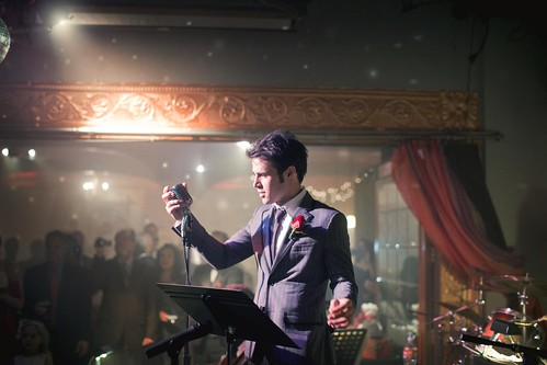 Stunning pictures of Kris Allen singing at cousin's wedding in Fayetteville, Arkansas