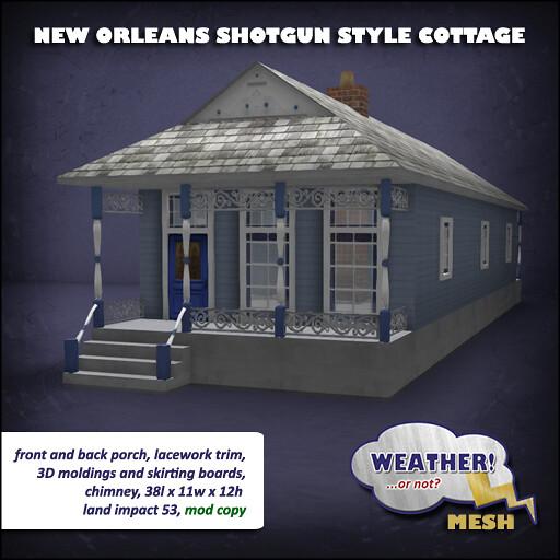 New Orleans Shotgun Style Cottage