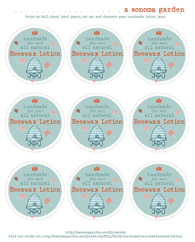 Beeswax Lotion Labels