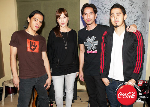 Rico Blanco and Amber Davis at Coke Music Studio - 5