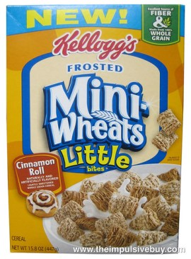 Kellogg's Cinnamon Roll Frosted Mini Wheats Little Bites