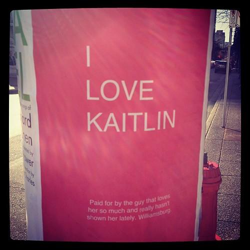 I love kaitlin #signage ad? Art?