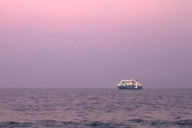 A Sri Lankan navy-ship turned tourist cruiser