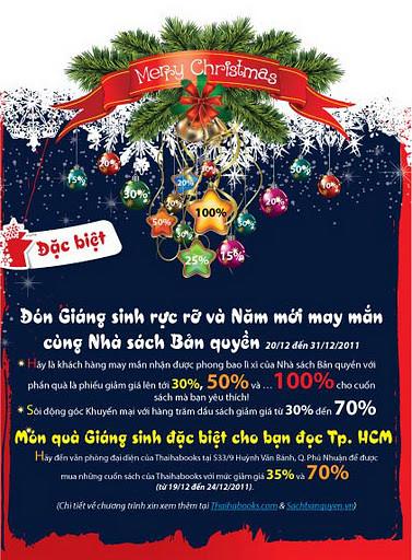 Nhà sách Bản quyển giảm giá đậm mùa Giáng Sinh