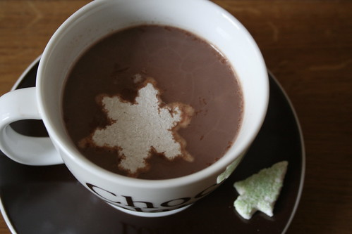 Marshmallow-Eiskristall im Kakao