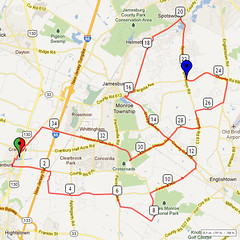 17. Bike Route Map. Cranbury NJ