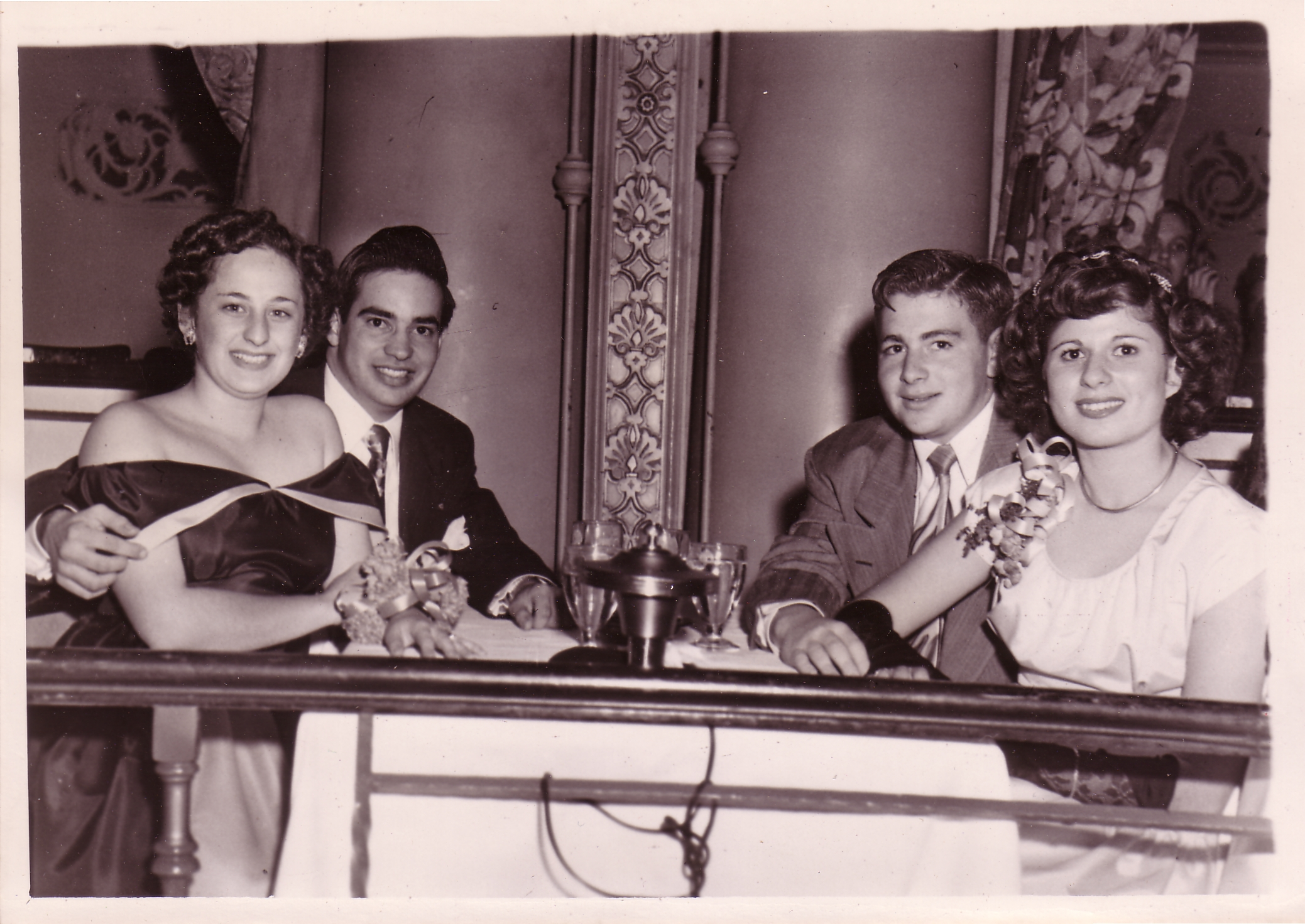 Mom and Dad dating with Friends at Biltmore Hotel