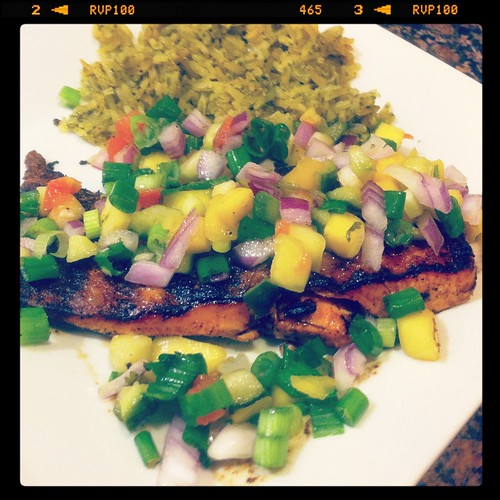 Salmon with Mango Salsa