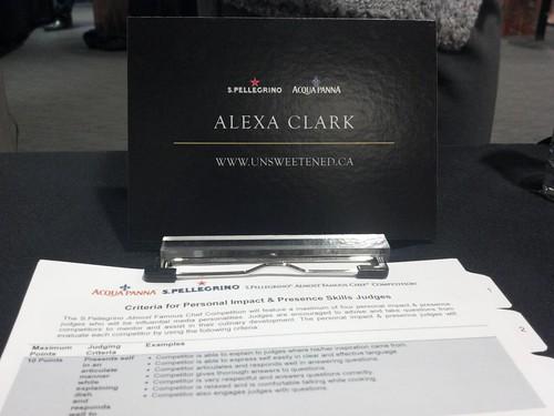 Alexa Clark, Judge and Diner